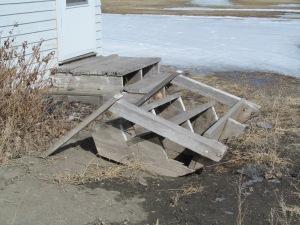 Old steps.