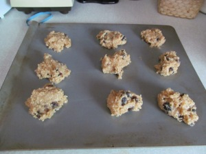 Final cooking project was a batch of oatmeal raisin cookies. I never make cookies.