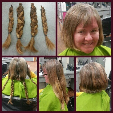Shots of the hair I donated.