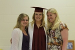 Paulina with her sisters at graduation.