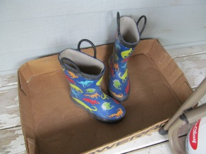 Lonely rain boots.