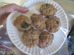 Oatmeal-raisin cookies.