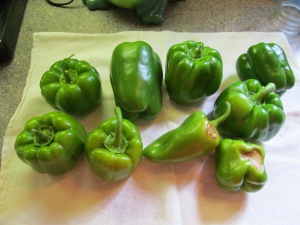 The peppers, see the marks on two of them.
