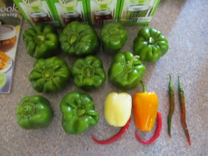 Peppers are coming in well right now.