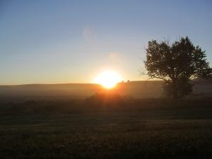 Sunrise on Tuesday, Sept. 24, 2013