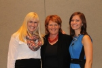 Jessica and Kylee, the youngster award winners, with United State's Senator, Heidi Heidtkamp.