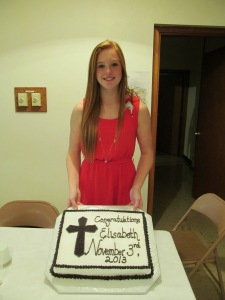My niece Elisabeth on her confirmation.