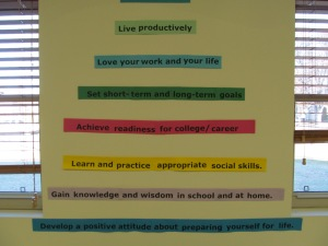 Hierarchy of mantras found in English room.