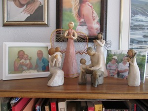Grandparents with angels display