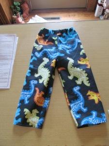 Jaxon's new pants.