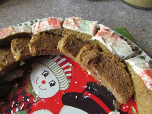 This platter was filled with goodies. As you can see the pumpkin bars and zucchini bread came back home, not a big hit...so sad.