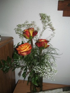 Roses from my sister Kathy, one for each year our mother has been gone.