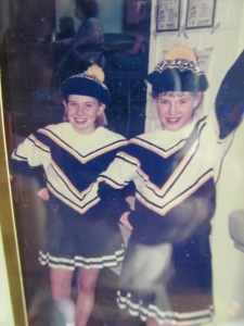 Here you are a Montpelier cheerleader with best friend Lindsey.
