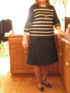 Here I am in my new skirt ready for church.