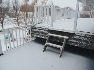 Snow on the upper deck.
