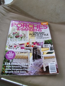 Parches and Gardens magazine has so many great ideas on how to turn my porch into a real room.
