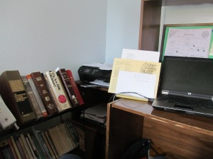 My messy work area to the left.