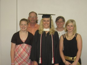Family at Jessica's college graduation. I was right about the earlier ones.