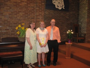 Here we are at Paulina's confirmation.