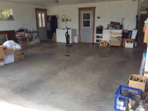 The garage is clean, well mostly.