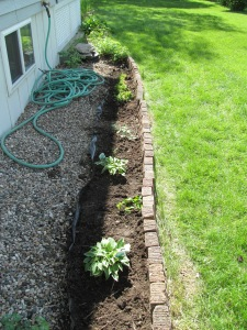 North area after when the hostas are in place.