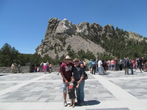 James, me and Jaxon in front of Mt. Rushmore.