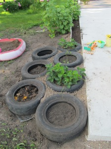 The tires are all in place, just need so dirt and the runners redirected.