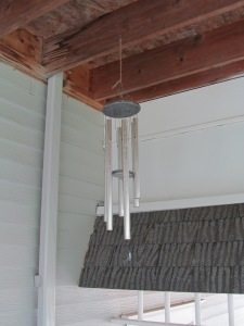 Wind chimes in the closed corner are going big time today. Nice sound, but it means pretty windy.
