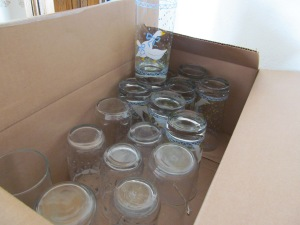 A box of drinking glasses. I didn't count them, but I know I paid about 50 cents each or less.