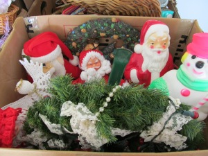 This was a productive box. Those Santas either light up of sing.