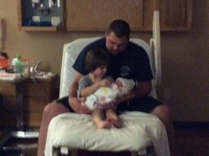 Jaxon and Popa with Anna.