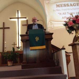Rev. Fred Kirschenmen was the main speaker.