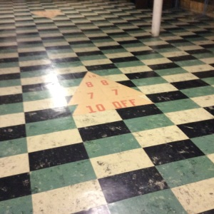 Floor in the room where the youth used to hang out. At one time we had a Ping-Pong table there.