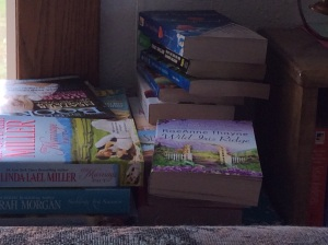Next stack of books, but not a good picture of them.
