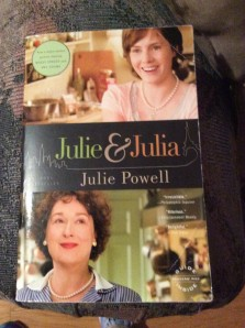 Book by Julie Powell with pictures of actresses from the movie.