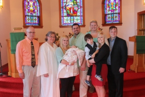 The family at the baptism.