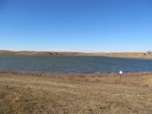 A lake along the way.