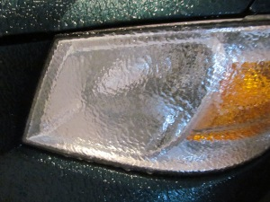 Glassed over headlight