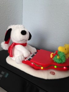 My musical Snoopy toy. I have decided it is for all year on the printer. I can play it when I have writiers block.