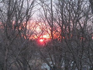 Sunset from the balcony 3/25/15