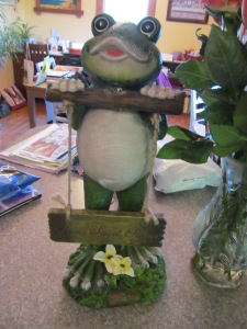 Yard Ornament, another frog.....family joke!
