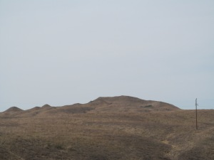 The buttes outside of town.