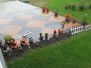 Rain on the checkerboard