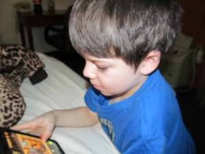 Jaxon playing games