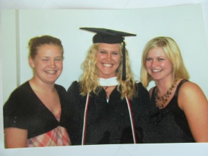 Jessica's college graduation with her sisters.