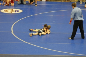 Jaxon wrestling on Saturday