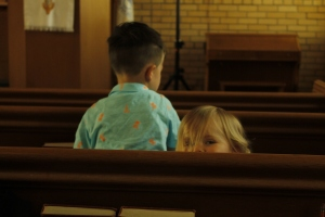 Jaxon and Ana during the service