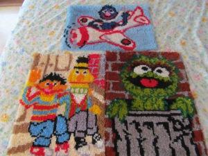 Sesame Street latch hooks