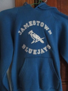 Jessica's Blue Jay hoodie