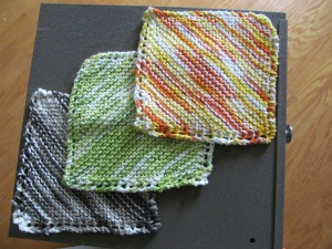 Cotton knit dishcloths